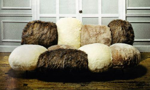 These Cozy Faux Fur Couches Were Shown At This Years Milan Furniture Fair.  How Fun Are They? Plush Material Covers The Multi Pieced Seat And Back In A  ...