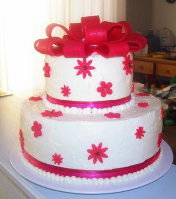 White and Red 17th Birthday Cakes Designs