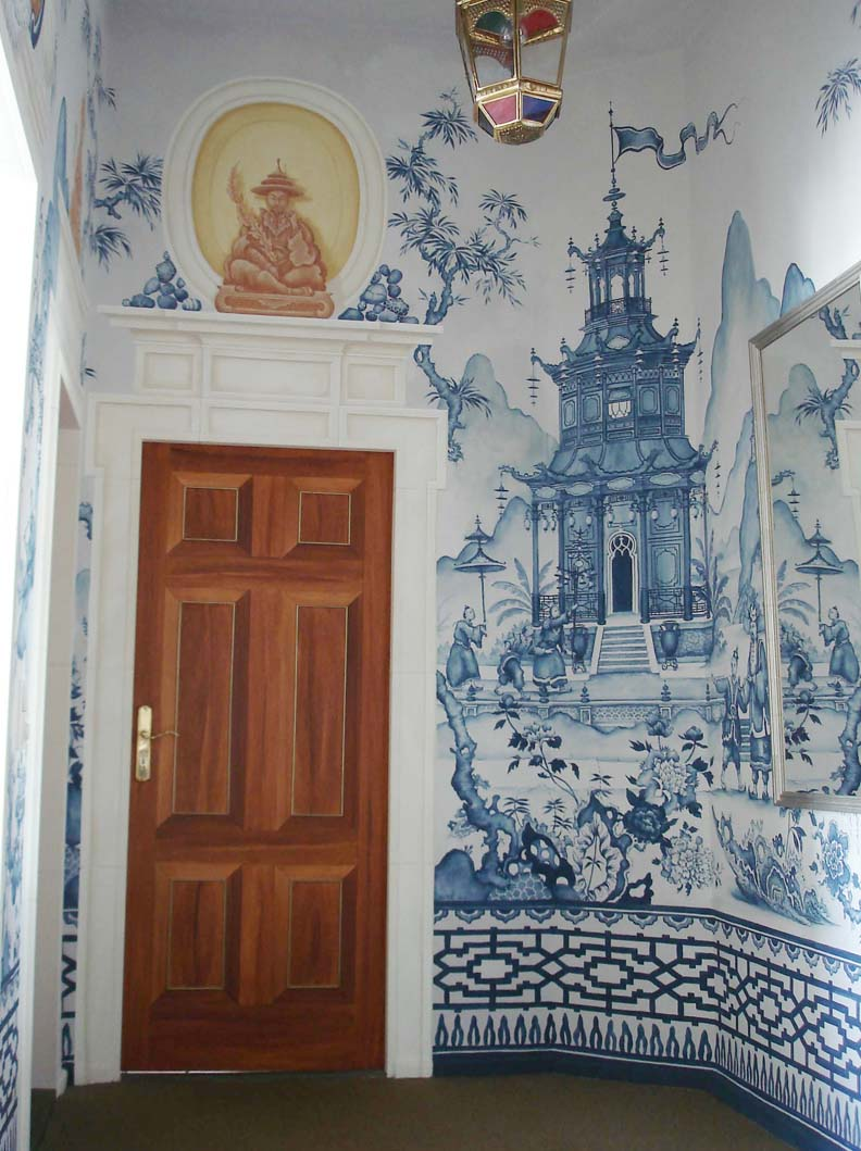 Michael dute borrowed blog mr barr for Chinoiserie wall mural