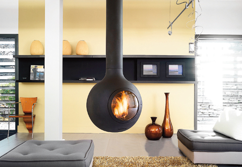 It s all about the floating fireplace mr barr for Holzofen modern