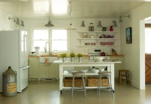 Kitchen Island Open Shelves mostly) white kitchens | mr. barr