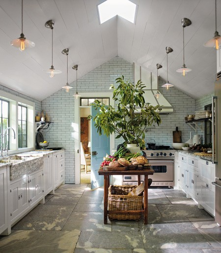 Kitchen Lighting Vaulted Ceiling: White Kitchens