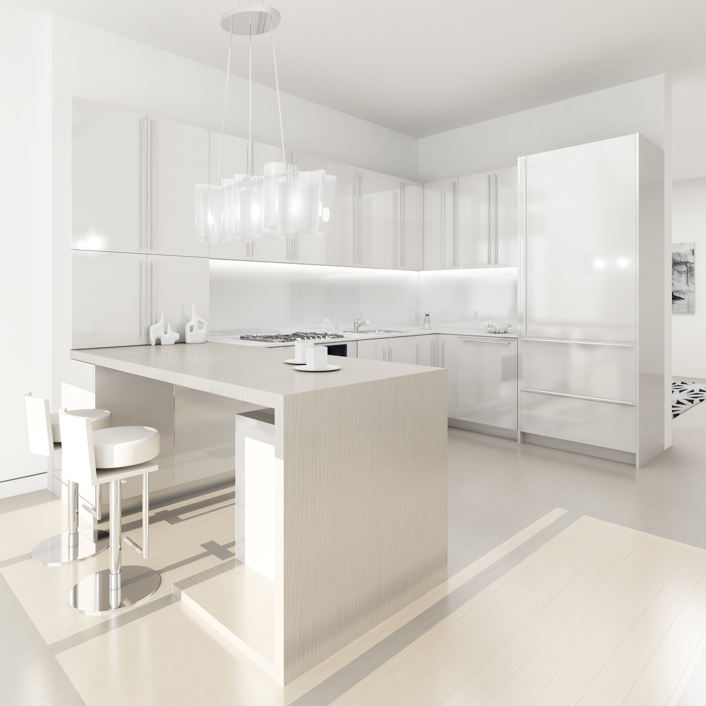 Modern Contemporary Kitchen Design: (my) WHITE KITCHEN(s)