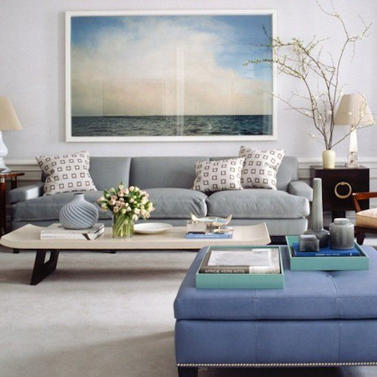 Blue white grey oh my mr barr - Blue living room color schemes ...