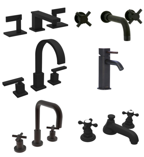 black-faucets